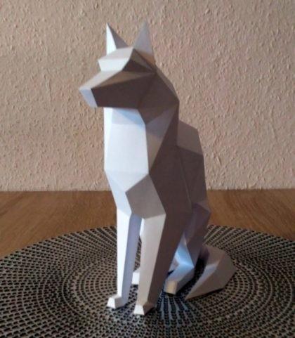 Papercrafting pies dog papercraft 3d