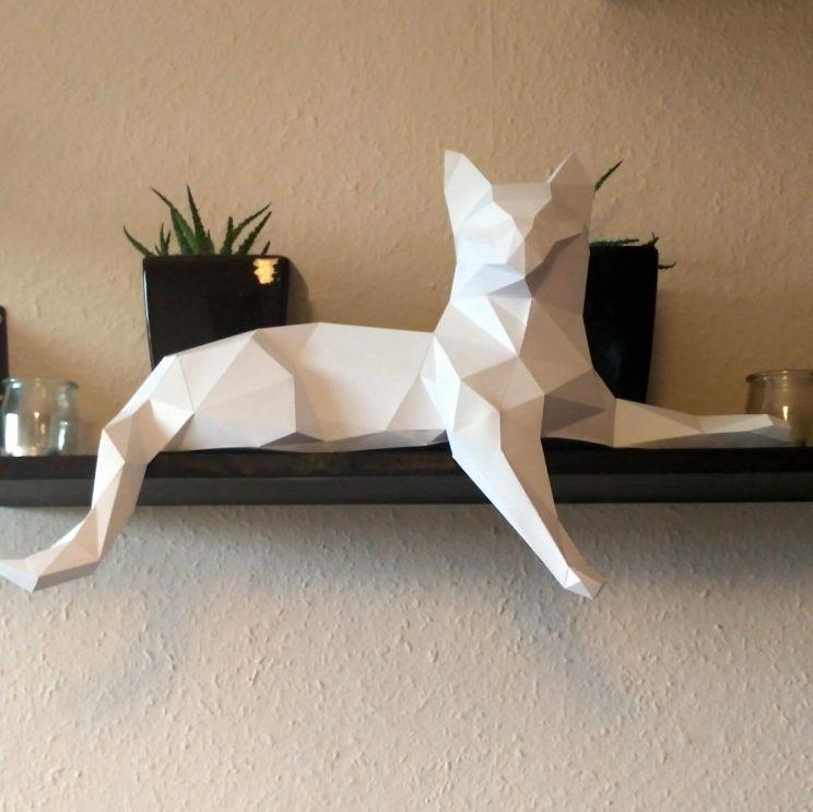 papercrafting cat paper kot papierowy kot